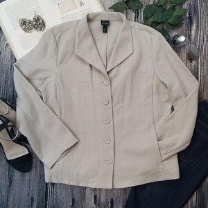 Eileen Fisher Organic Cotton Button Down Jacket